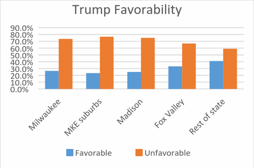 Trump Support  by Area