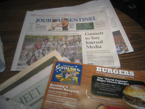 Gannett bought Journal Media, now looks to sell. Photo by Michael Horne.