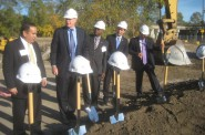 About to break ground on Freshwater Plaza. Photo by Michael Horne.