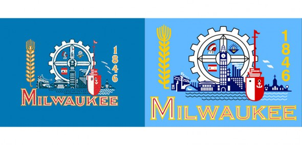 Milwaukee Flags (original on left)