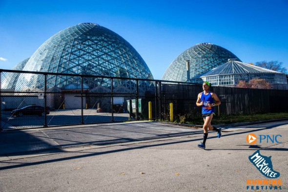Mitchell Park Domes. Photo courtesy of the Milwaukee Running Festival.