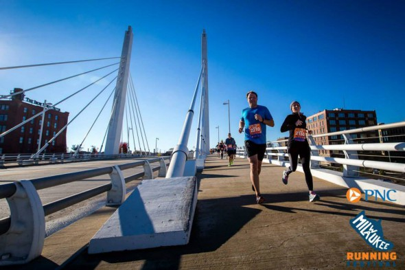 Sixth St. Bridge. Photo courtesy of the Milwaukee Running Festival.