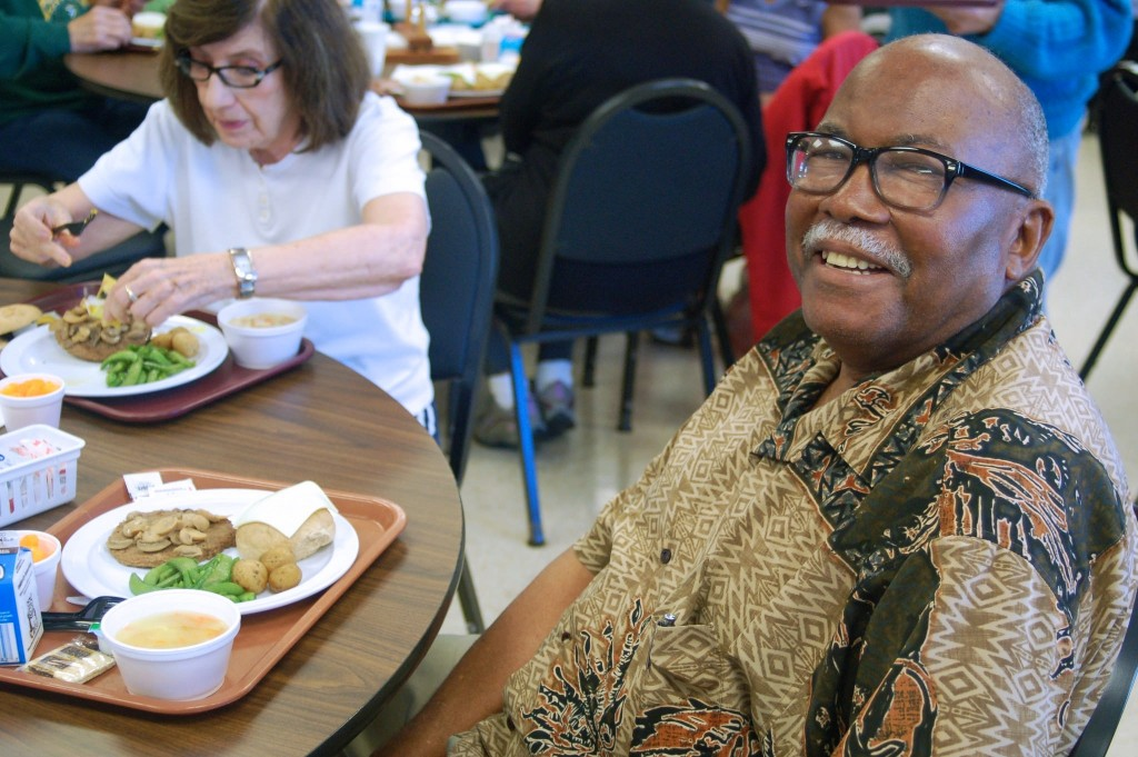 Joe Orr, 83, said he began participating in the meal program three years ago, after delivering county meals to the elderly for 16 years. Photo by Edgar Mendez.