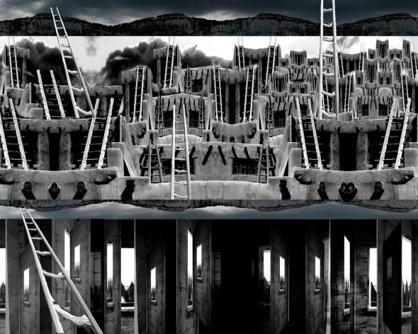 Acoma Twelve Portals, Digital Collage, 24 x 30, 2015