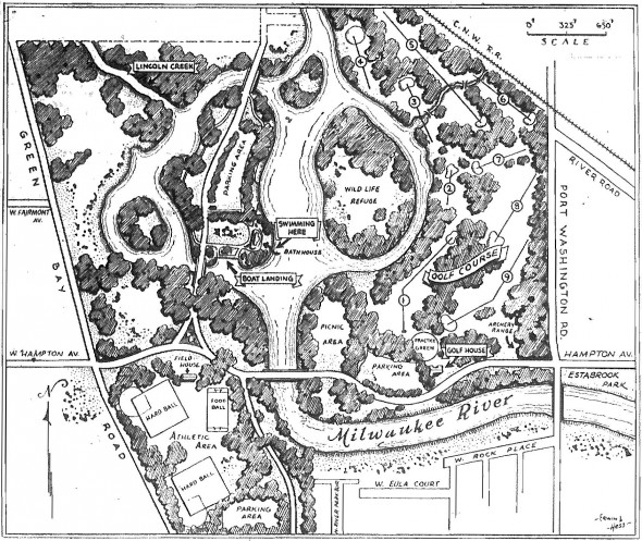 Map of Lincoln Park, 1938.