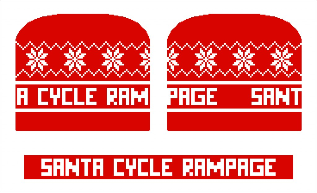This is a mock-up of the knit beanies we ordered this year. No pom, so they will fit under helmets.