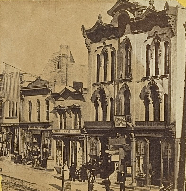 South Side of Wisconsin Ave., 1868. Image courtesy of Jeff Beutner.