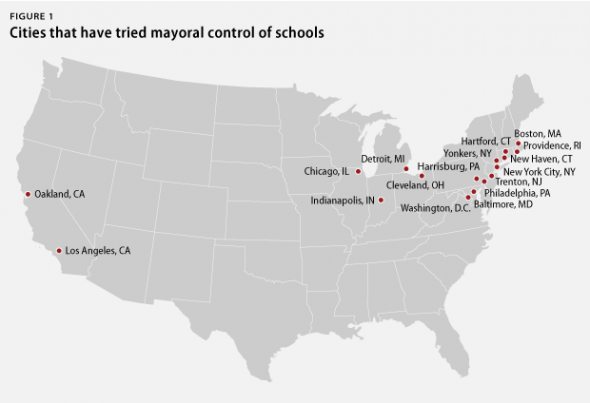 Cities that have tried mayoral control of schools