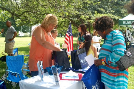 Washington Park draws people from across the county and hosts community events such as the 2015 NAACP resource fair. Photo by Devi Shastri.
