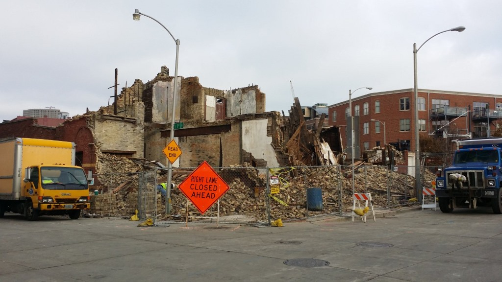 Demolition of the historic J.L. Burnham Building. Photo by Jack Fennimore