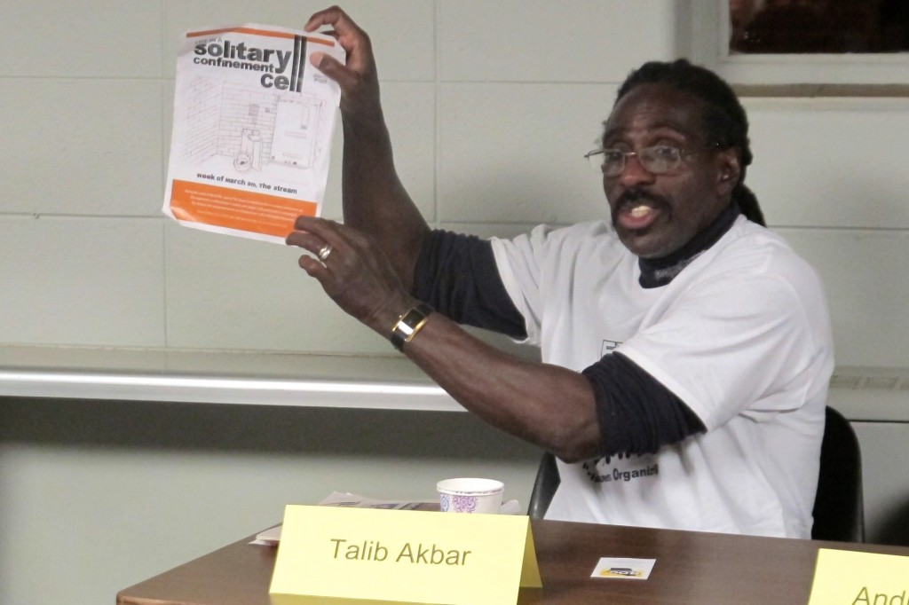 Talib Akbar's drawing of a solitary confinement cell helped spur a statewide campaign to raise awareness about the prison practice of isolation. Photo by Wyatt Massey.