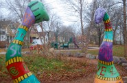 Snail's Crossing Park, located on the 3000 block of Bremen Street, is one of 12 playgrounds to be rehabilitated as part of the MKE Plays Initiative. Photo by Edgar Mendez.