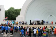 A crowd gathers for a performance at the Washington Park band shell. Photo by Jennifer Reinke.