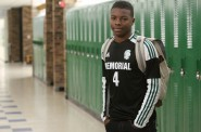 Demitrius Kigeya, a sophomore at Madison Memorial High School, is a high academic achiever, plays on the school soccer team and is actively involved in the school's Black Student Union. He says some of his classmates do not expect him to do well in school because he is black. Photo by Michelle Stocker of The Capital Times.