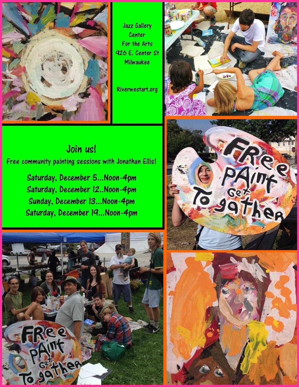 Riverwest Artists Association Hosts Free Paint Get Togather Exhibit & Community Painting Events