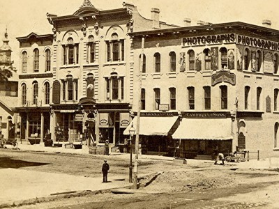 Yesterday's Milwaukee: Milwaukee and Wisconsin Streets, Late 1860s