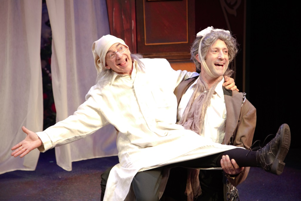 Chris Flieller (Scrooge) and Joe Fransee (Marley). Photo by Ryan Blomquist.