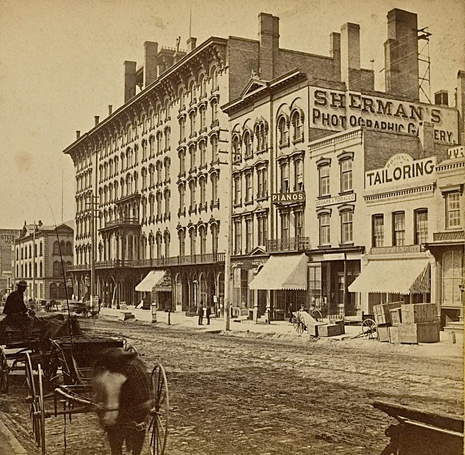 Broadway in Late 1860s. Image courtesy of Jeff Beutner.