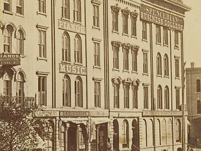 Yesterday's Milwaukee: Spencerian Business College, Late 1860s