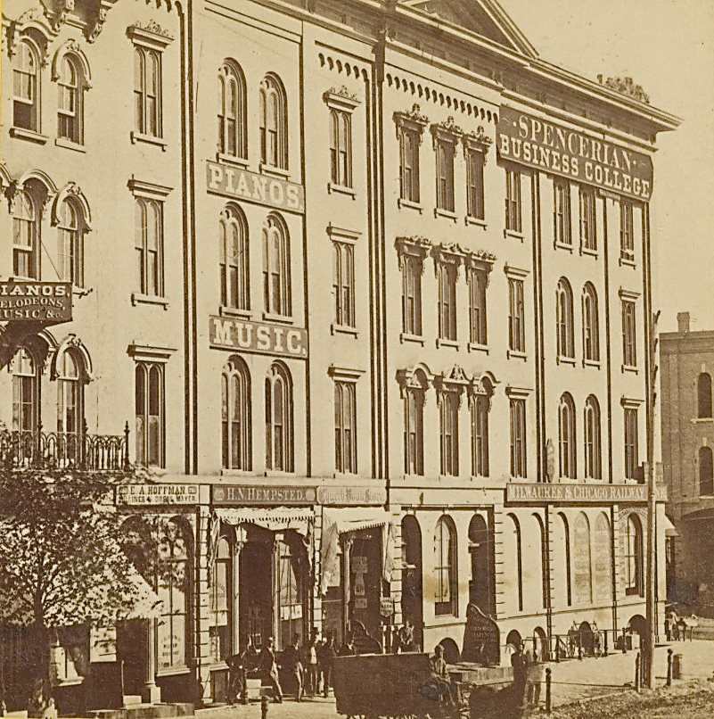 Spencerian Business College, Late 1860s. Image courtesy of Jeff Beutner.