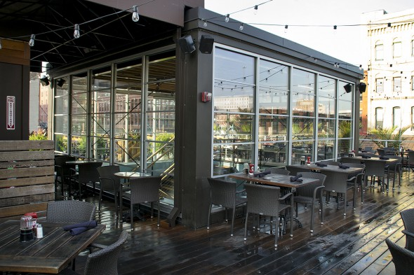 Cafe Benelux rooftop patio. Photo by Brian Jacobson.