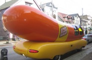 The Oscar Mayer Wienermobile on Brady Street. Photo by Michael Horne.