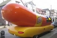 The Oscar Mayer Wienermobile on Brady Street. Photo by Michael Horne.