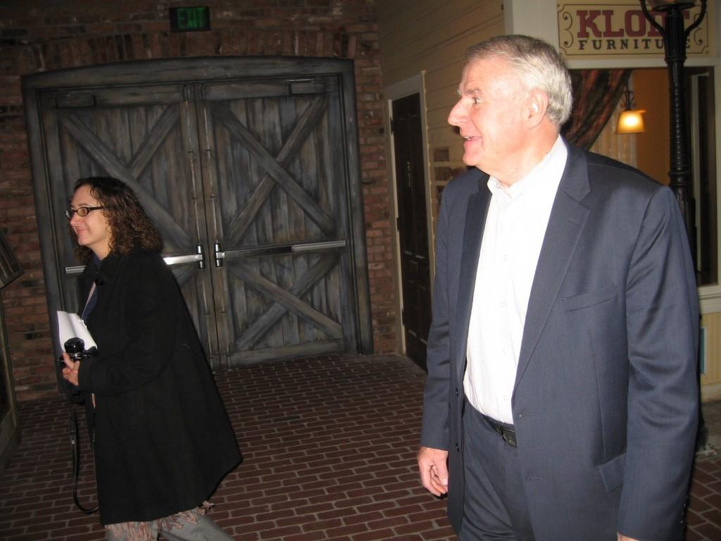 Jodie Tabak and Mayor Tom Barrett. Photo by Michael Horne.