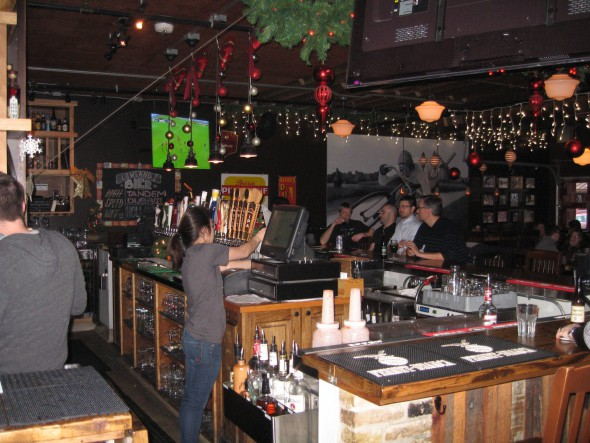 The bar at Cafe Benelux. Photo by Michael Horne.