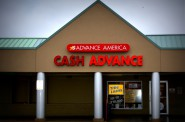 Advance America payday loan store on South 27th Street in Milwaukee. Photo by Marlita A. Bevenue.