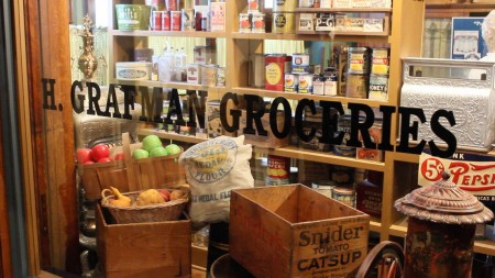 A replica of a Milwaukee grocery story is on display at the Chudnow Museum of Yesteryear, one of the 150 participants in the annual Doors Open Milwaukee event. Photo Mark Doremus.