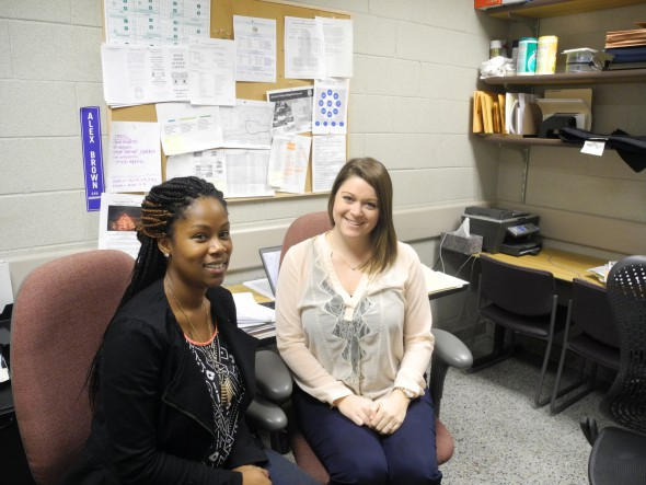 Meghan Johnson and Alex Brown - District 3 Community Prosecution Unit Coordinators from Safe & Sound. Photo by Laura Thompson.