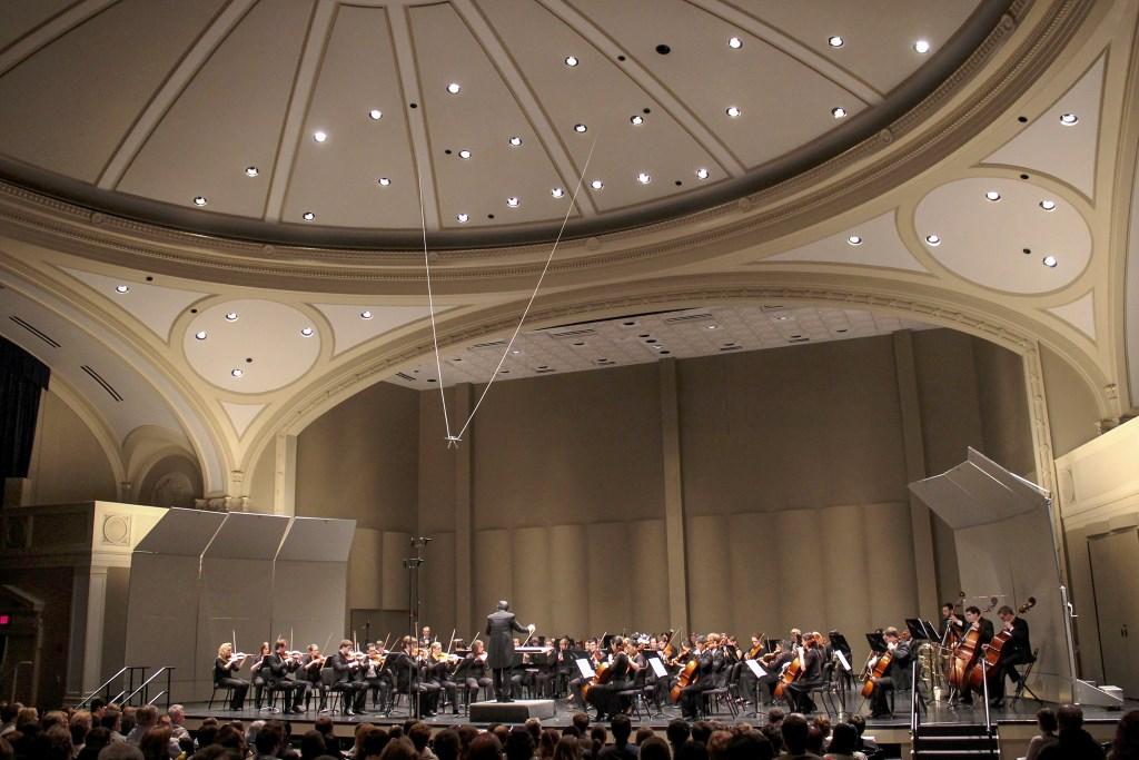 Helen Bader Concert Hall in the Helene Zelazo Center for Performing Arts. Photo courtesy of UWM.