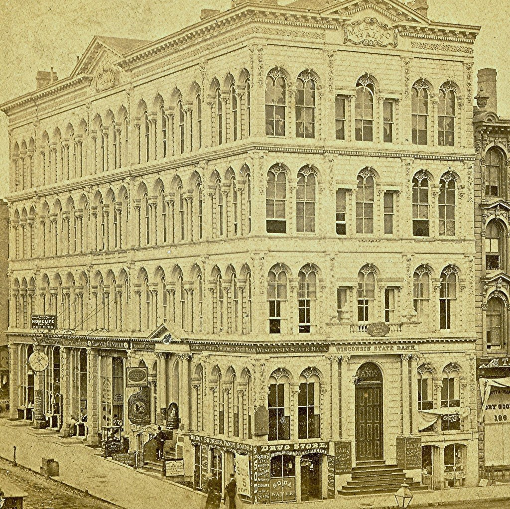 Iron Block Building, About 1867. Image courtesy of Jeff Beutner.