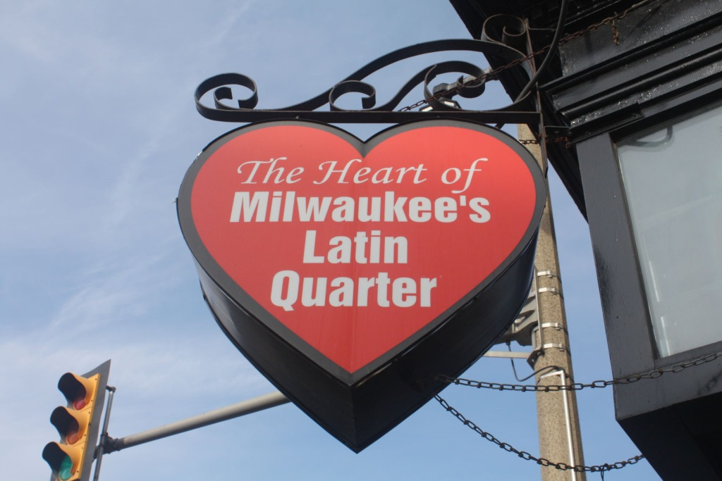The Heart of Milwaukee's Latin Quarter. Photo by Carl Baehr.
