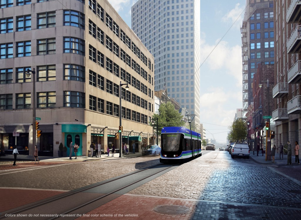 Milwaukee Streetcar on Milwaukee St.