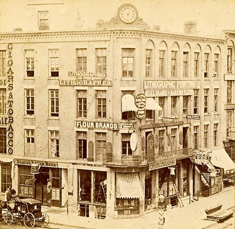 Iron Block Building, Late 1860s. Image courtesy of Jeff Beutner.