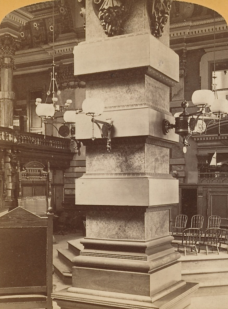 Inside the Grain Exchange, 1880. Image courtesy of Jeff Beutner.