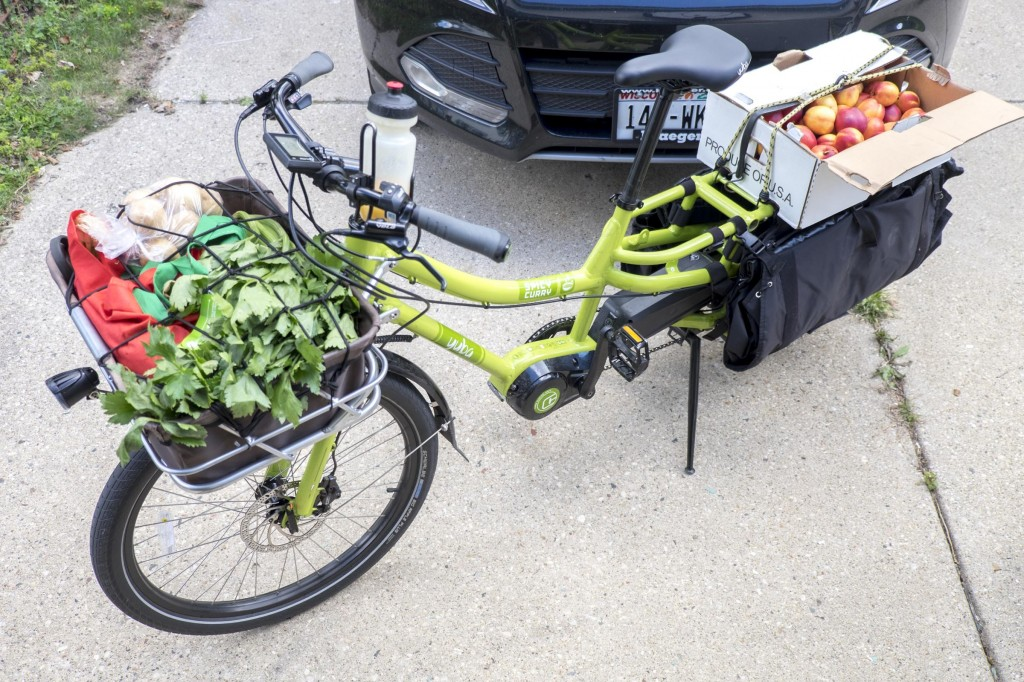 With the Spicy Curry, I never have to worry about buying more at the grocery store or farmers market than I have room for on my bike.