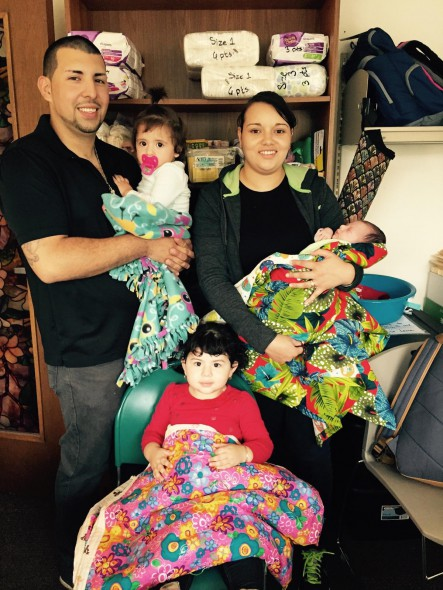 Clients with blankets. Photo courtesy of the Nonprofit Center of Milwaukee.