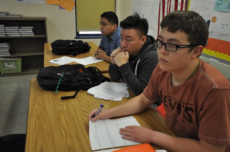 Students at MPS' Alexander Hamilton High School in an Advanced Placement course. Photo courtesy of MPS.