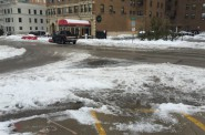 Sneckdown on the intersection of N. Prospect Ave. and E. Irving Pl. Photo by Jeramey Jannene.
