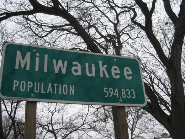 """Milwaukee Population 594,833."" Photo by Michael Horne."