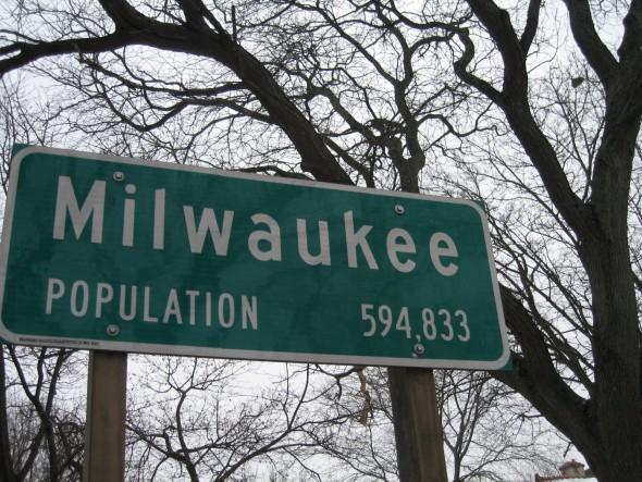 """Milwaukee Population 594,833."" Photo by Michael Horne."