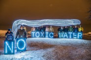 No Toxic Water. Photo courtesy of the Overpass Light Brigade.