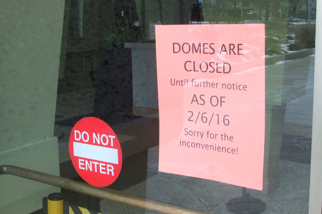 The Mitchell Park Domes are closed indefinitely due to structural concerns. Photo by Wyatt Massey.