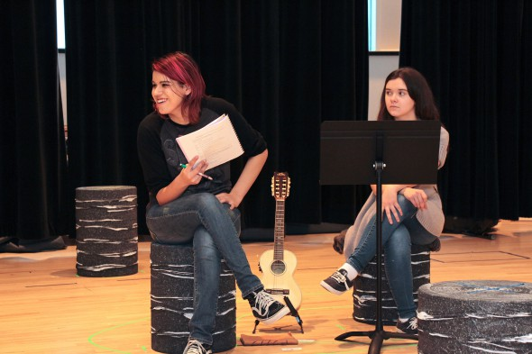 "Bree Kazinski (left) played the lead role in First Stage's ""Luchadora!"" which was produced last season as the fourth play in The Wisconsin Cycle. Photo by Lucia Lozano, First Stage."