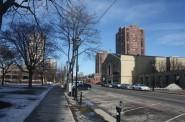 Apartments along N. Jackson Street. Photo by Carl Baehr.