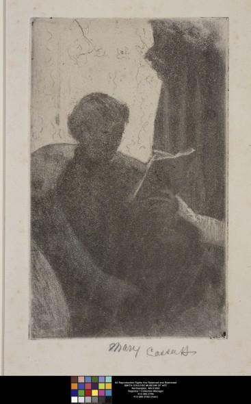 Mary Cassatt American (1844 - 1926). Lydia Reading, Turned Toward Right, 1881. Smith College Museum of Art, Northampton Massachusetts. Gift of Selma Erving, class of 1927