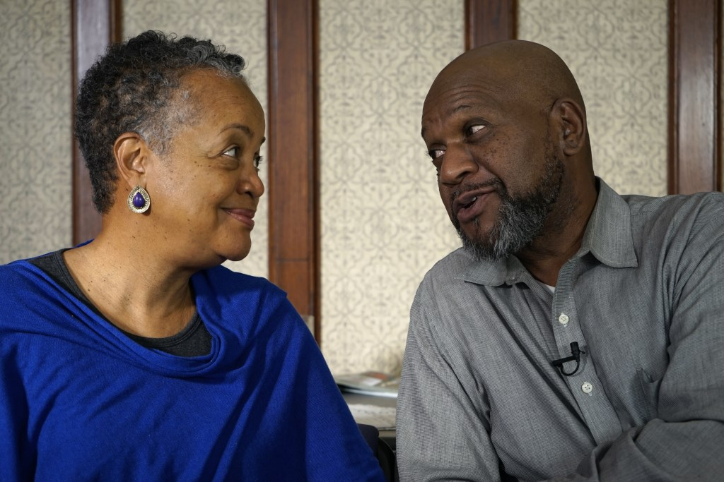 Walnut Way co-founders Sharon (left) and Larry Adams share a moment. Photo by Adam Carr.